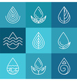 Set of water symbols and signs vector image