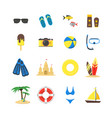 summer rest color icon set vector image