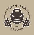 Fitness emblem vector image