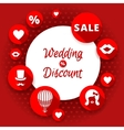 Sale discount wedding card vector image