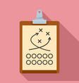 american football tactical clipboard icon flat vector image vector image