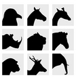 animal head silhouette vector image vector image