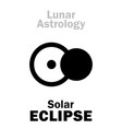 astrology solar eclipse vector image vector image