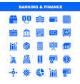banking solid glyph icon pack for designers and vector image vector image