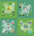 banners set of with ecology vector image vector image