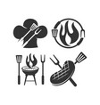 barbecue beef chef fire logo template badge vector image vector image