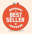 Best Seller Circle Retro Medal vector image vector image