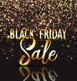 black friday gold confetti background 2309 vector image vector image