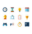 business work success finance icons set vector image vector image