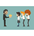 Businessman share idea vector image vector image