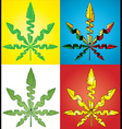 Cannabis Marijuana hemp textured leaf symbol vector image
