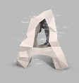 capital latin letter a in low poly style vector image