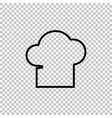 Chef cap sign Line icon vector image vector image