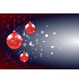 Christmas baubles card vector image vector image