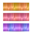 Colorful headers vector image vector image