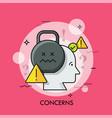 concerns thin line concept vector image vector image