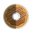 delicious donut dessert vector image vector image