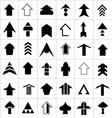 design set arrow vector image vector image