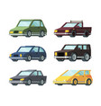 different types modern cars flat vector image vector image