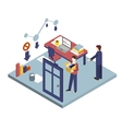 Dismissal of a Worker Isometric 3d vector image