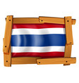 flag of thailand in wooden frame vector image vector image