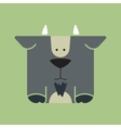 Flat square icon of a cute goat vector image