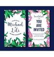Floral background for invitation card banners set vector image vector image
