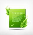 frame green leaf ecology vector image vector image