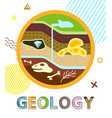 geology poster soil layers vector image