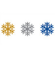 glitter snowflakes year design vector image vector image