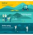 Golf Flat Banner Set vector image vector image