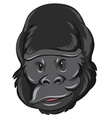 Gorilla head with happy face vector image vector image