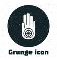 grunge symbol jainism or jain dharma icon vector image vector image