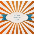 Happy Fathers Day special striped Banner vector image vector image