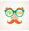 hipster Irish man for St Patricks day vector image