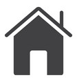 home glyph icon web and mobile house sign vector image vector image