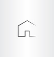 home icon simple black house symbol vector image vector image