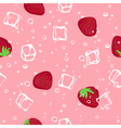 Ice and strawberry pink seamless pattern vector image