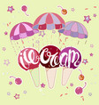 ice cream on parachute vector image vector image