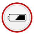 icon battery vector image vector image