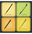 icons pencils vector image