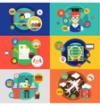 infographic objects set Startup Travel vector image vector image