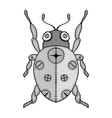 Lady Bug Doodle vector image