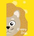 lion cute animal cartoon card vector image vector image