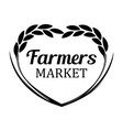logo with rye wheat for farmers market - banner vector image