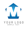 M-sign vector image vector image