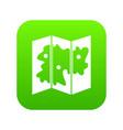 map icon digital green vector image