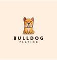 mascot character cartoon bulldog logo vector image vector image