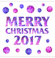 Merry Christmas 2017 with mosaic balls vector image