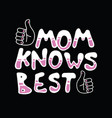 mom knows best vector image